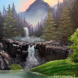 Mountain Waterfalls by Deborah Strategier