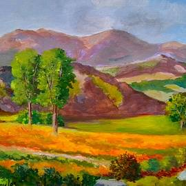 Mountains and fields   by Konstantinos Charalampopoulos