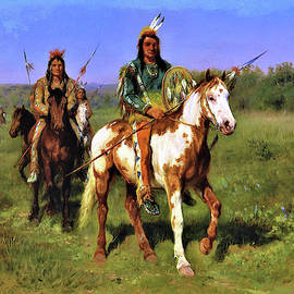 Mounted Indians Carrying Spears - Digital Remastered Edition