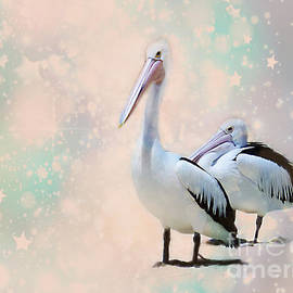 Mr and Mrs Pelican by Trudee Hunter