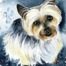 Mr Darcy Yorkshire Terrier Dog Painting by Dora Hathazi Mendes