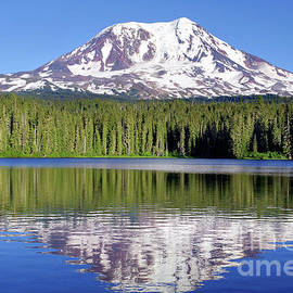 Mt. Adams From Lake Takhlakh by Douglas Taylor