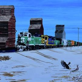 MT Railways and Silos by Mike Nahorniak