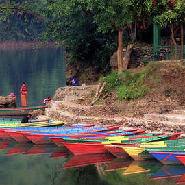 Multi-color boats by Murray Rudd