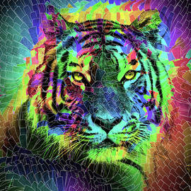 Multicolored Amazing Tiger by Grace Iradian