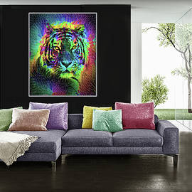 Multicolored Amazing Tiger  in Situ by Grace Iradian