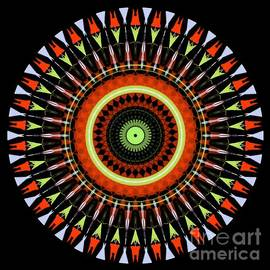 Multicolored Spiral Design by Waterflower Designs