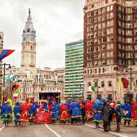 Mummers March on City Hall by Linda Bielko