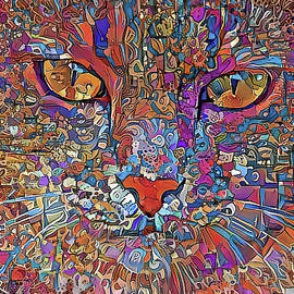 Murphy The Colorful Tabby Cat  by HH Photography of Florida