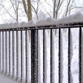 My balcony After Heavy Snowfall by Lyuba Filatova