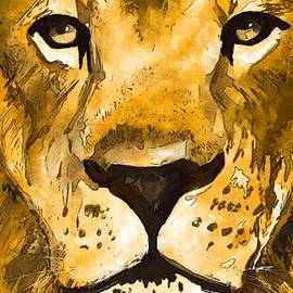 My Lion Face 1 by Eileen Backman