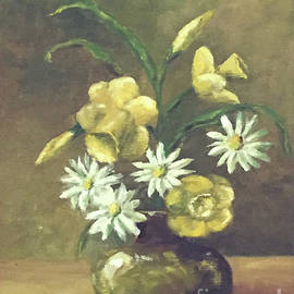 First Love -- Daffodils and Daisies by Catherine Ludwig Donleycott