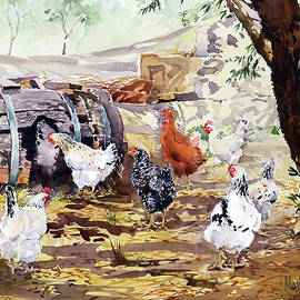 My Neighbours Hens by Margaret Merry