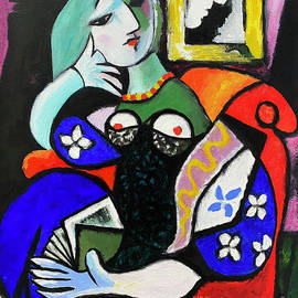 My Woman with a Book by Picasso by Fine Art by Alexandra