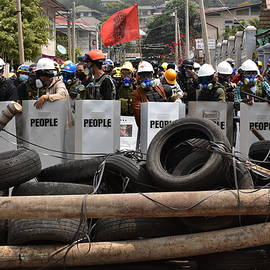 Myanmar protests against the military dictatorship by Robert Bociaga