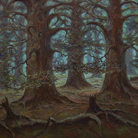 Mysterious Forest From The Fairy Tales Of My Childhood. Original Oil Painting by Nikolay Dmitriev