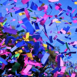 Mystic Krewe of Barkus Parade Past Confetti In New Orleans by Michael Hoard