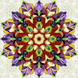 Mystic Mandala No.2 on beige background by Grace Iradian