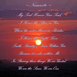 Namaste by Donna Meyer