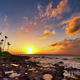 Napili Bay Maui At Sunset by Michele Hancock Photography