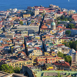 Naples City Aerial View Cityscape In Italy by Artur Bogacki