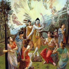 Nara and Narayan Rishis meet Cupid by Dominique Amendola