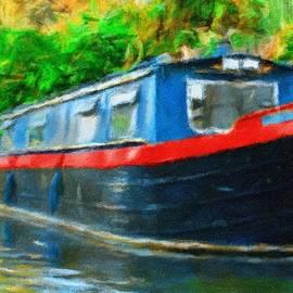Narrow boat, Regent's Canal, London, England by Joe Vella