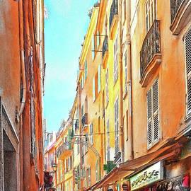 Narrow busy street in Monaco #3 by Tatiana Travelways