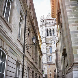 Narrow Streets of Geneva Old Town Switzerland  by Carol Japp