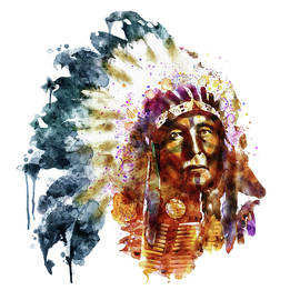 Native American Chief by Marian Voicu