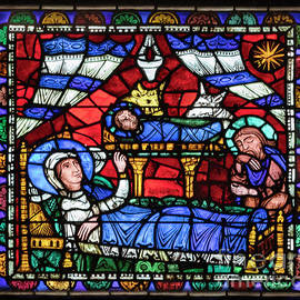 Nativity Window Chartres Cathedral by Robert L Lease Images Lumiere De Liesse Ltd