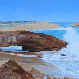 Natural Arch, Limestone Coast, South Australia. Oils on Canvas.  by Rita Blom