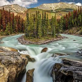 Natural Beauty of Sunwapta Falls