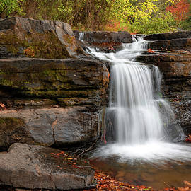 Natural Dam Falls In Autumn - Ozark National Forest by Gregory Ballos