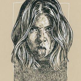 Naughty girl portrait by Katarzyna Gagol