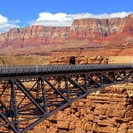 Navajo Bridge and Vermilion Cliffs by Jon B Martinson
