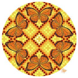 Navajo Monarch Butterfly Mandala by Tim Phelps