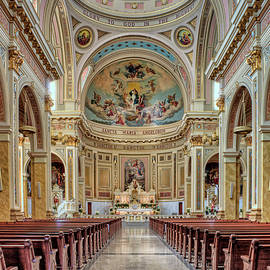 Nave and Chancel - Saint Mary of the Angels - Chicago by Nikolyn McDonald