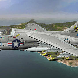 Navy A7 Stingers - Art by Tommy Anderson