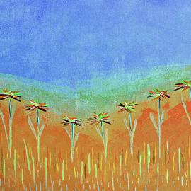 Nearby Flowers in Orange by Corinne Carroll