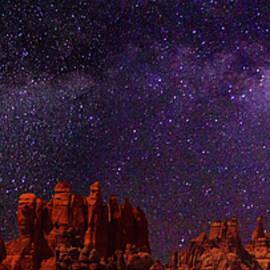 Canyonlands Needles at Night by Roving Nomad Media