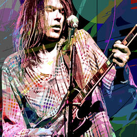 Neil Young Crazy Horse by David Lloyd Glover