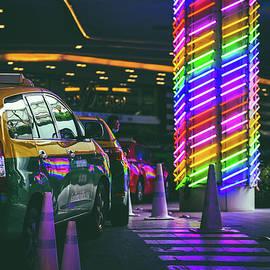 Neon Bangkok Street Emquartier  by Pavel Khon
