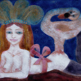 Nerissa and the Swan by Zdenek Krejci