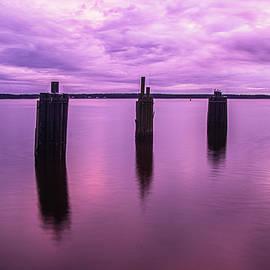 Neuse River Sunset - Minnesott Beach NC by Bob Decker