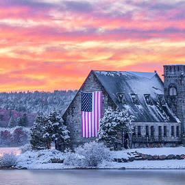 New England Snow Foliage at the Old Stone Church by Juergen Roth