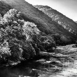 New River Gorge Black and White by Thomas R Fletcher