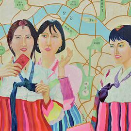 New Three Girls  by Taikan Nishimoto