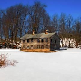 A Barn Time Forgot  -  barninsnowfield022521 by Judy Duncan