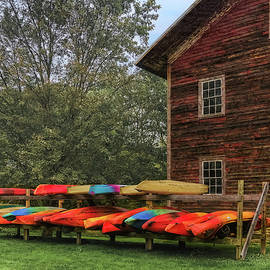 On the Rack - Kayak Rack That Is  -  seasonisover101321 by Judy Duncan